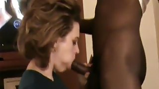 sucking black cock for my man