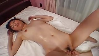 Vibrators delight her soaking wet Asian pussy