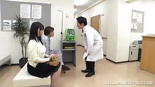 Big boobed Japanese teen Aimi Irie in medical adventure