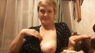 Hot 45 yo Russian aged Larisa play in skype
