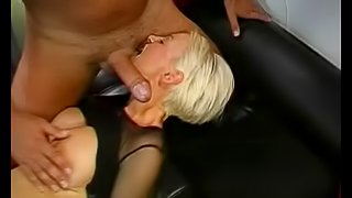 Lush blonde with big beautiful tits and a gorgeous pierced cunt enjoying a gang fuck